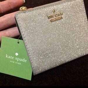 Kate spade silver wallet
